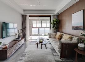 100平米三居室现代简约风格设计