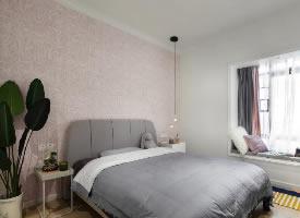 105㎡简约北欧风三居室,温馨干净有色彩的家