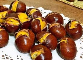 一组甜甜的糖炒栗子图片