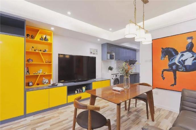 点击大图看下一张:40㎡一字型单身公寓,小户型更显温馨