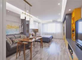 40㎡一字型单身公寓,小户型更显温馨