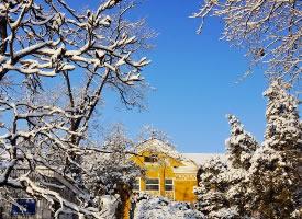 一组美丽的千山冬雪美景图