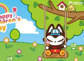 可爱拽猫六一儿童节高清卡通图片