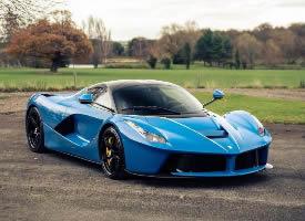 法拉利 Ferrari LaFerrari,蓝色太爱了
