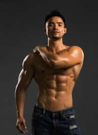 一组性感紧实肌肉男帅哥图片