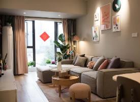 少女心满满的家,68平米北欧风格三居室