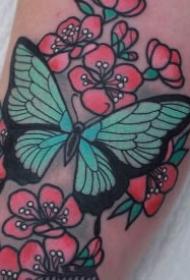 9款漂亮的蝴蝶纹身图片