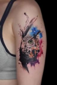 一组非常漂亮的水彩纹身图片
