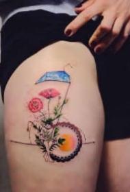 构思奇特的彩色清新纹身图案欣赏