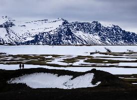 冰岛瓦特纳冰川风景摄影图片