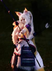 一组可爱的阴阳师白狼cosplay写真图片