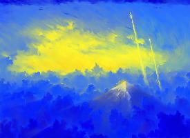 蓝色系设计海报素材图片
