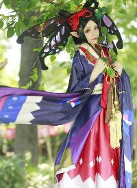养眼迷人蝴蝶精cosplay写真图片
