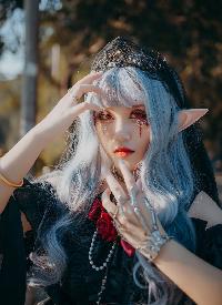洛丽塔美女精灵cosplay性感写真图