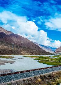 青藏线沿途风景摄影图片