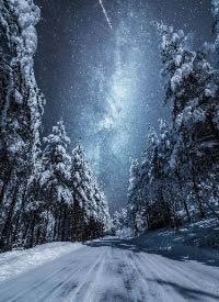 雪夜里,听见银河的呼唤