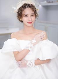 优雅中带着慵懒的新娘盘发造型