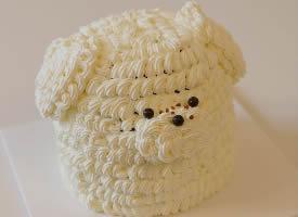 一组可爱的狗狗系列蛋糕图片