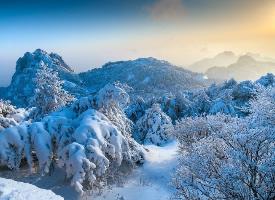 一组绝美的黄山雪景图片
