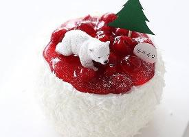 奶油蛋糕,圣诞极简风