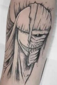 一组卡通图案的纹身作品图片