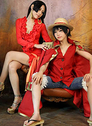 海贼王动漫cosplay女路飞与女帝令人着迷