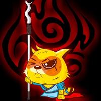 刻苦打磨自己的黄猫  强者绝不是偶然