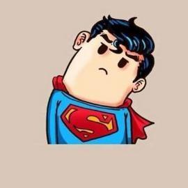 萌哒哒可爱的超人微信卡通头像图片