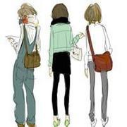 动漫卡通可爱三姐妹qq闺蜜群头像