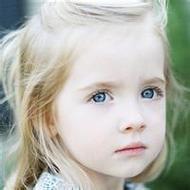 呆萌可愛的歐美小女孩微信頭像圖片