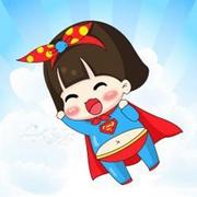 小清新可愛卡通情侶qq超人頭像圖片