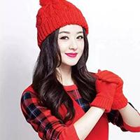 美女明星趙麗穎喜慶唯美紅色頭像