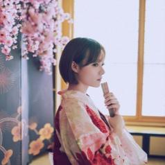 日本小清新和服美女傷感qq頭像圖片
