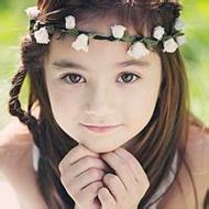 歐美小清新可愛小女孩微信頭像圖片