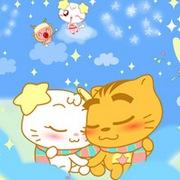 可爱幸福的卡通动物情侣头像图片