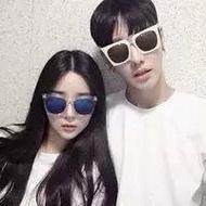 韩范儿带墨镜的个性qq霸气情侣头像