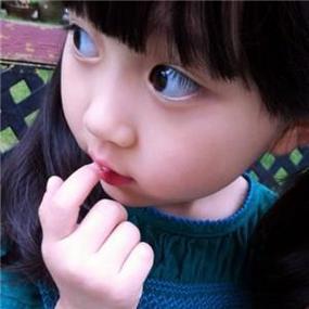 小清新可愛大眼小女孩微信頭像圖片