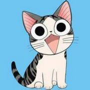 呆萌可爱的起司猫咪卡通头像图片