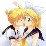 情意绵绵的可爱卡通情侣镜音双子头像
