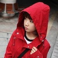 唯美可爱韩国女生微信红色头像