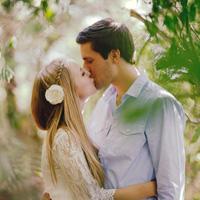 90后欧美情侣接吻微信意境头像图片