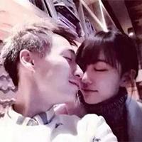 抓拍甜蜜的情侣qq唯美接吻头像图片