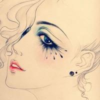 好看有气质的手绘女生qq素描头像