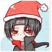 戴圣誕帽的火影q版卡通男生頭像大全