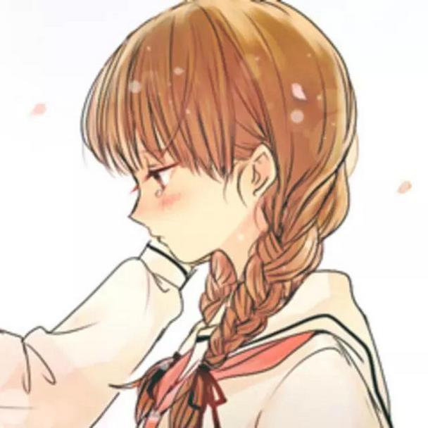 清新可爱卡通动漫情侣qq简约头像图片