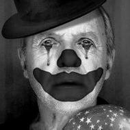 欧美伤感流泪的qq小丑黑白头像图片