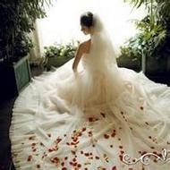 好看的唯美微信女生婚纱头像图片