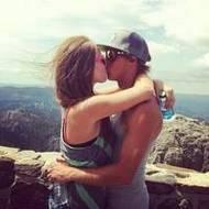 甜美幸福的欧美情侣qq接吻头像图片