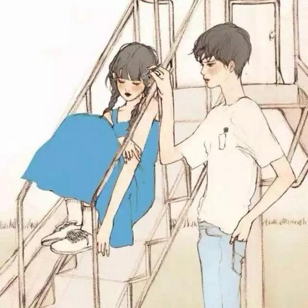 唯美卡通动漫情侣qq特性头像图片