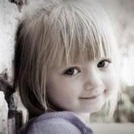 歐美大眼可愛小女孩微信頭像圖片
